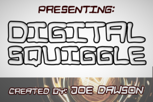 Print on Demand: Digital Squiggle Display Font By Joe Dawson