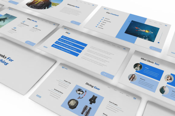 Download Free Diving School Keynote Template Graphic By Formatikastd for Cricut Explore, Silhouette and other cutting machines.