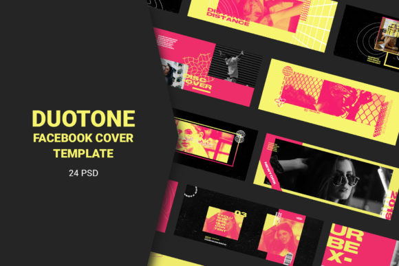 Download Free Duotone Facebook Cover Templates Graphic By Qohhaarqhaz for Cricut Explore, Silhouette and other cutting machines.
