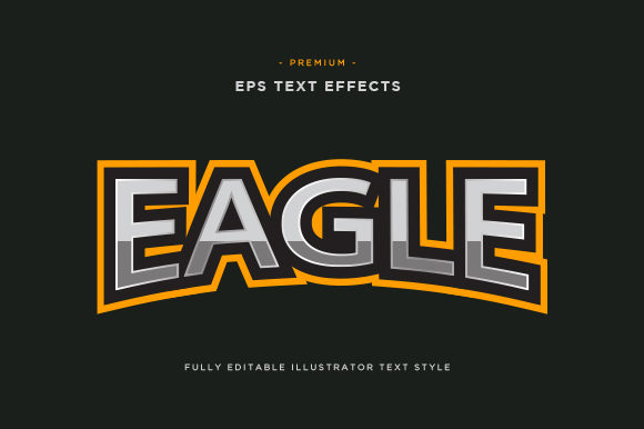 Print on Demand: Eagle Text Effect Vector Graphic Icons By Riduwan Molla