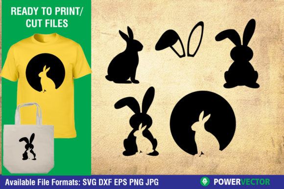Download Free Easter Bunny Graphic By Powervector Creative Fabrica for Cricut Explore, Silhouette and other cutting machines.
