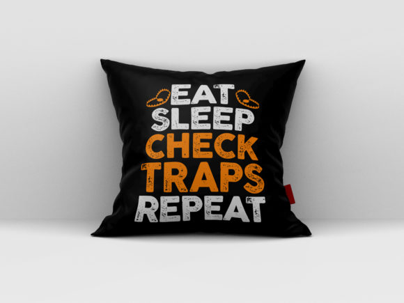 Download Free Eat Sleep Check Traps Repeat Graphic By Aartstudioexpo for Cricut Explore, Silhouette and other cutting machines.