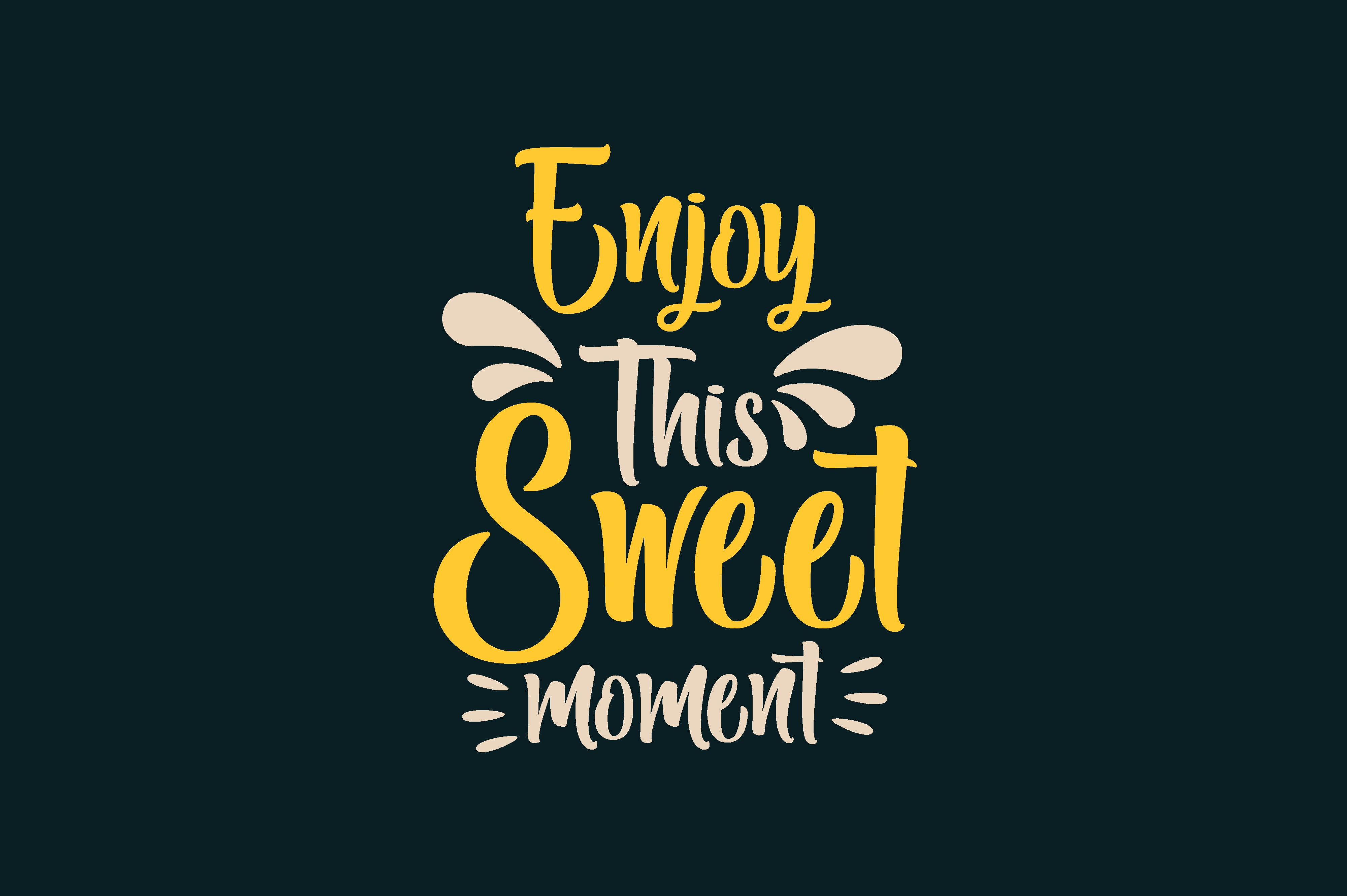 Download Free Enjoy This Sweet Moment Graphic By Chairul Ma Arif Creative for Cricut Explore, Silhouette and other cutting machines.