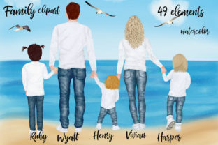 Print on Demand: Family Clipart Grafik Illustrationen von LeCoqDesign