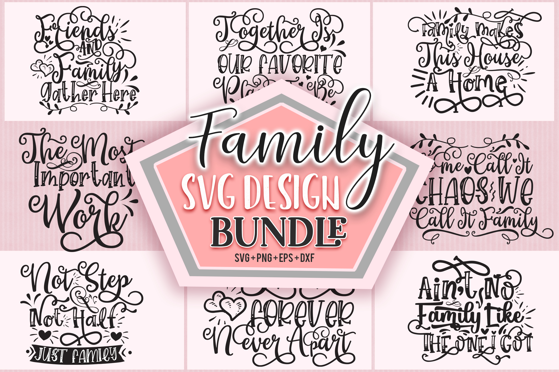 Download Free Family Design Bundle Graphic By Subornastudio Creative Fabrica for Cricut Explore, Silhouette and other cutting machines.