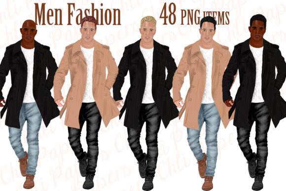 Fashion Man Dressed Graphic Illustrations By ChiliPapers