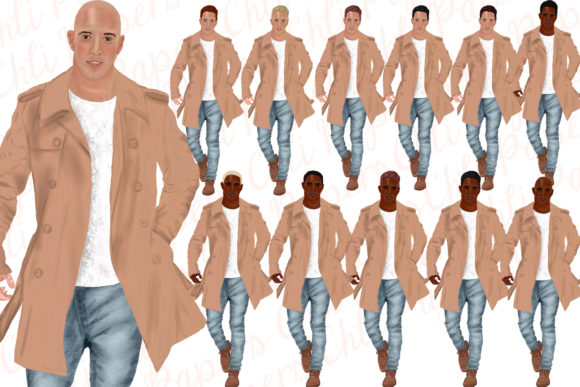 Fashion Man Dressed Graphic Illustrations By ChiliPapers - Image 5