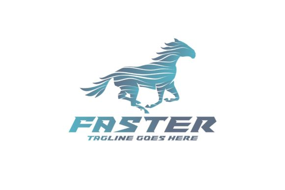 Faster Horse Graphic Logos By Herulogo