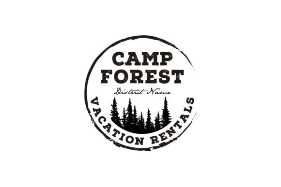 Download Free Fir Pine Tree Forest Camp Rustic Logo Graphic By Enola99d for Cricut Explore, Silhouette and other cutting machines.
