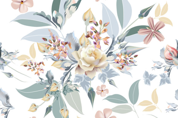 Floral Pattern Beautiful Rose Flowers Graphic Patterns By fleurartmariia
