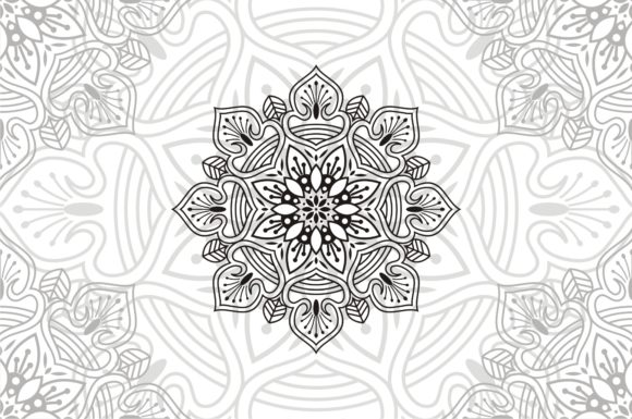 Download Free Flower Mandala Vintage Decorative Graphic By Ahsancomp Studio for Cricut Explore, Silhouette and other cutting machines.