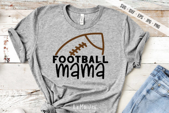 Football Mama Graphic Crafts By Lemonade Design Co.