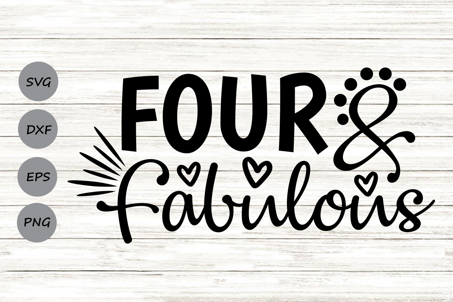 Download Free Four And Fabulous Graphic By Cosmosfineart Creative Fabrica for Cricut Explore, Silhouette and other cutting machines.