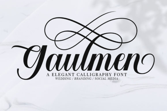 Print on Demand: Gaulmen Script & Handwritten Font By supotype