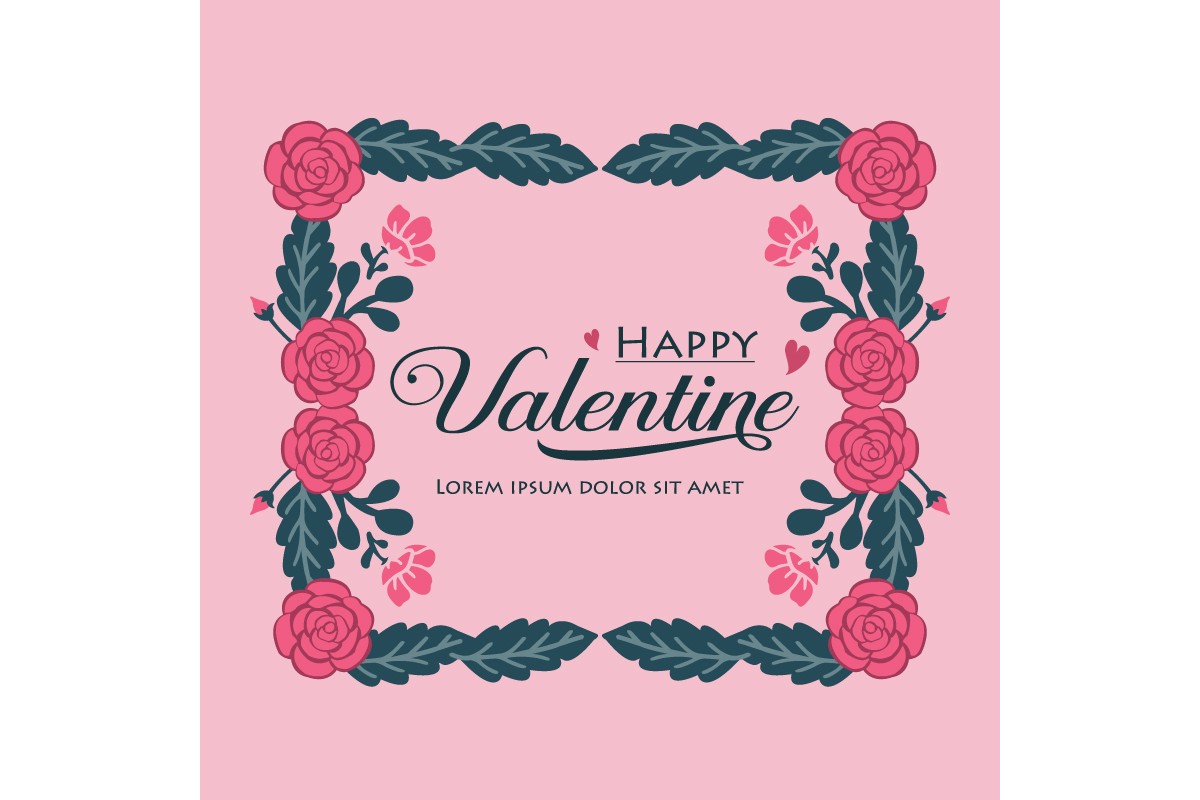 Happy Valentine Greeting Card Template Graphic By Stockfloral