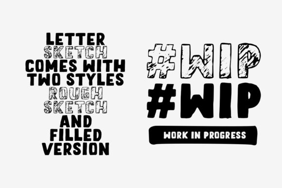 Download Free Letter Sketch Font By Motokiwo Creative Fabrica for Cricut Explore, Silhouette and other cutting machines.