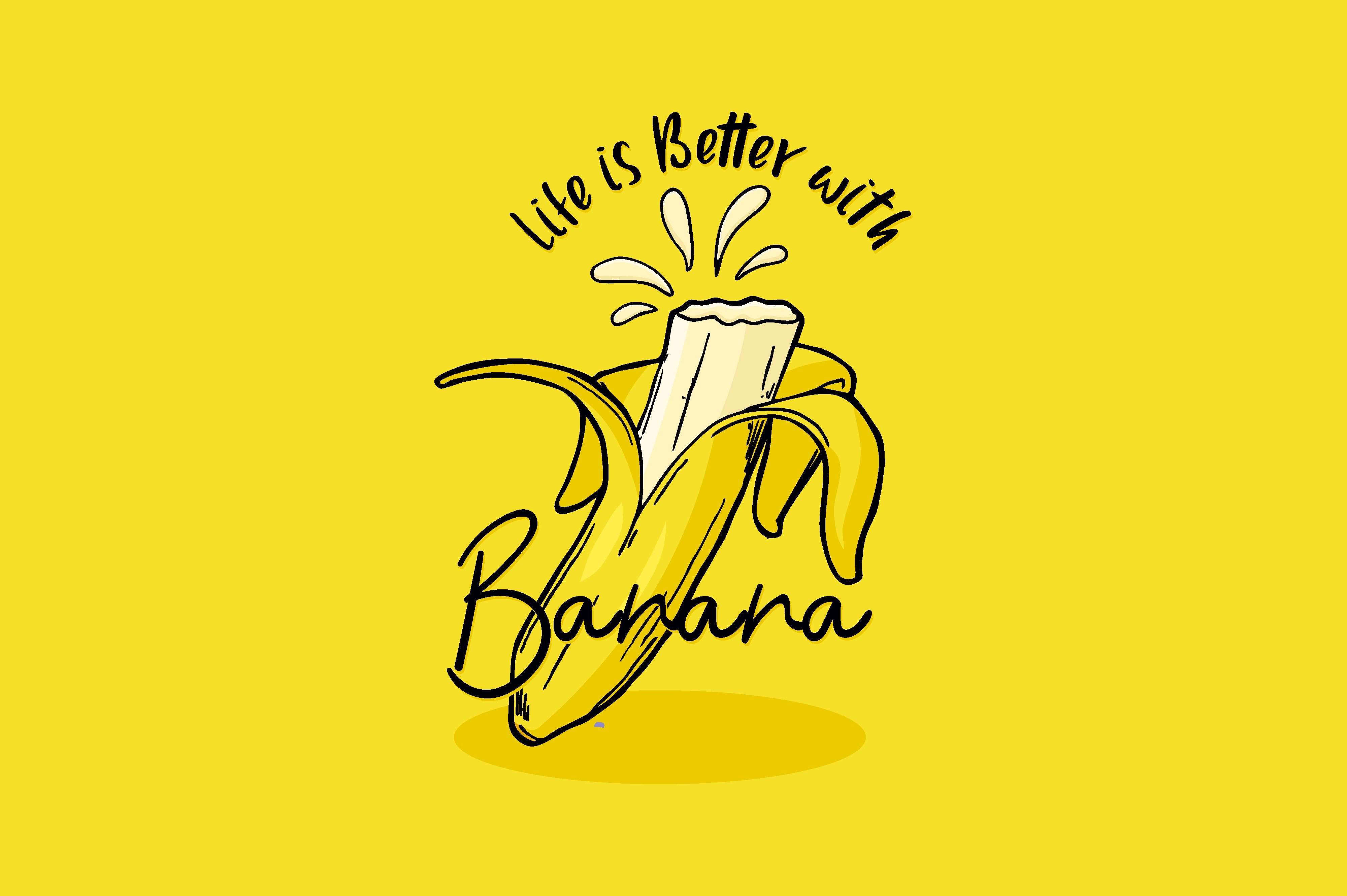 Download Free Life Is Better With Banana Graphic By Chairul Ma Arif Creative SVG Cut Files