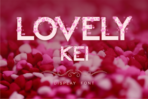 Print on Demand: Lovely Kei Display Font By arukidz.fl