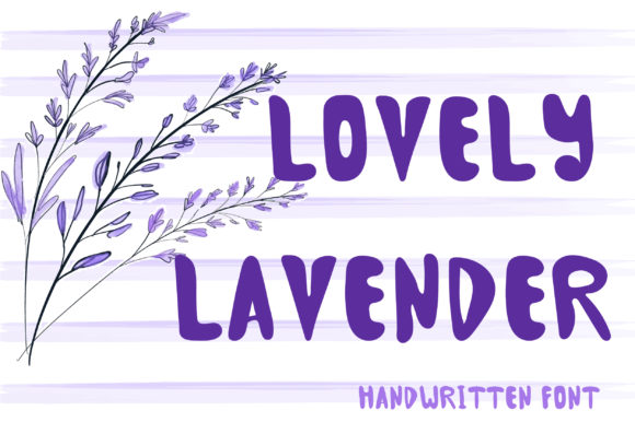 Print on Demand: Lovely Lavender Script & Handwritten Font By PinkPearly