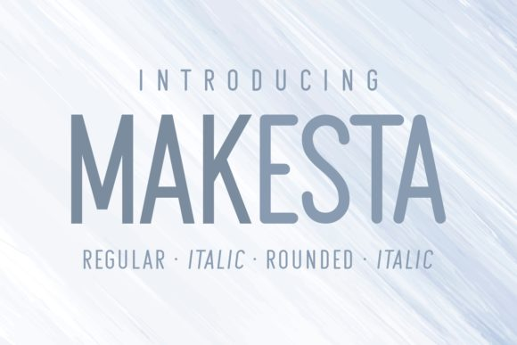 Print on Demand: Makesta Sans Serif Font By Kelik - 7NTypes