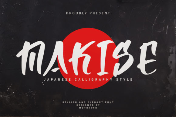 Print on Demand: Makise Script & Handwritten Font By motokiwo