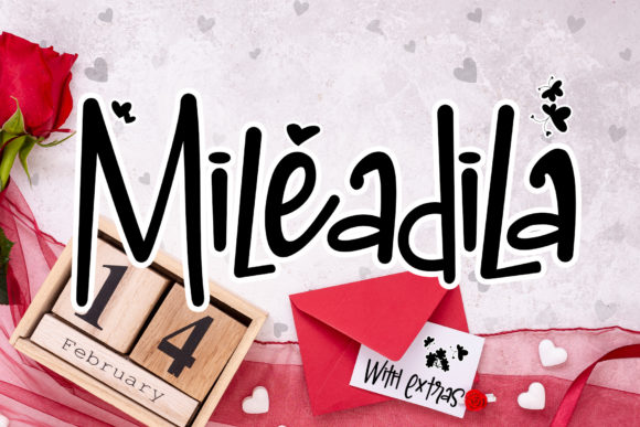 Print on Demand: Mileadila Display Font By thomasaradea