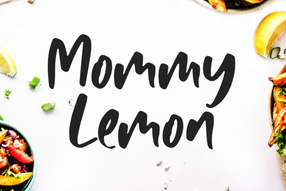 Print on Demand: Mommy Lemon Script & Handwritten Font By motokiwo