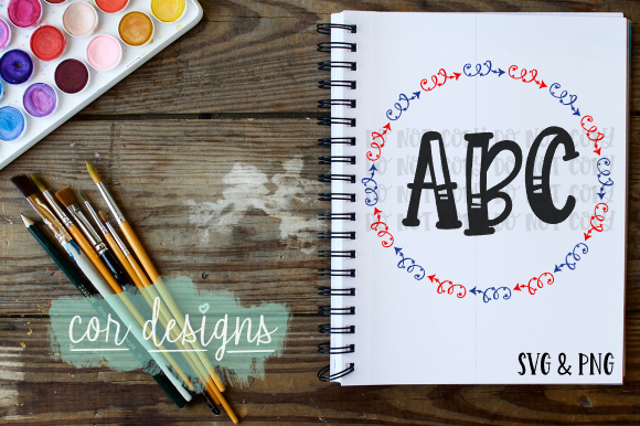 Download Free Monogram Frame Graphic By Designscor Creative Fabrica for Cricut Explore, Silhouette and other cutting machines.