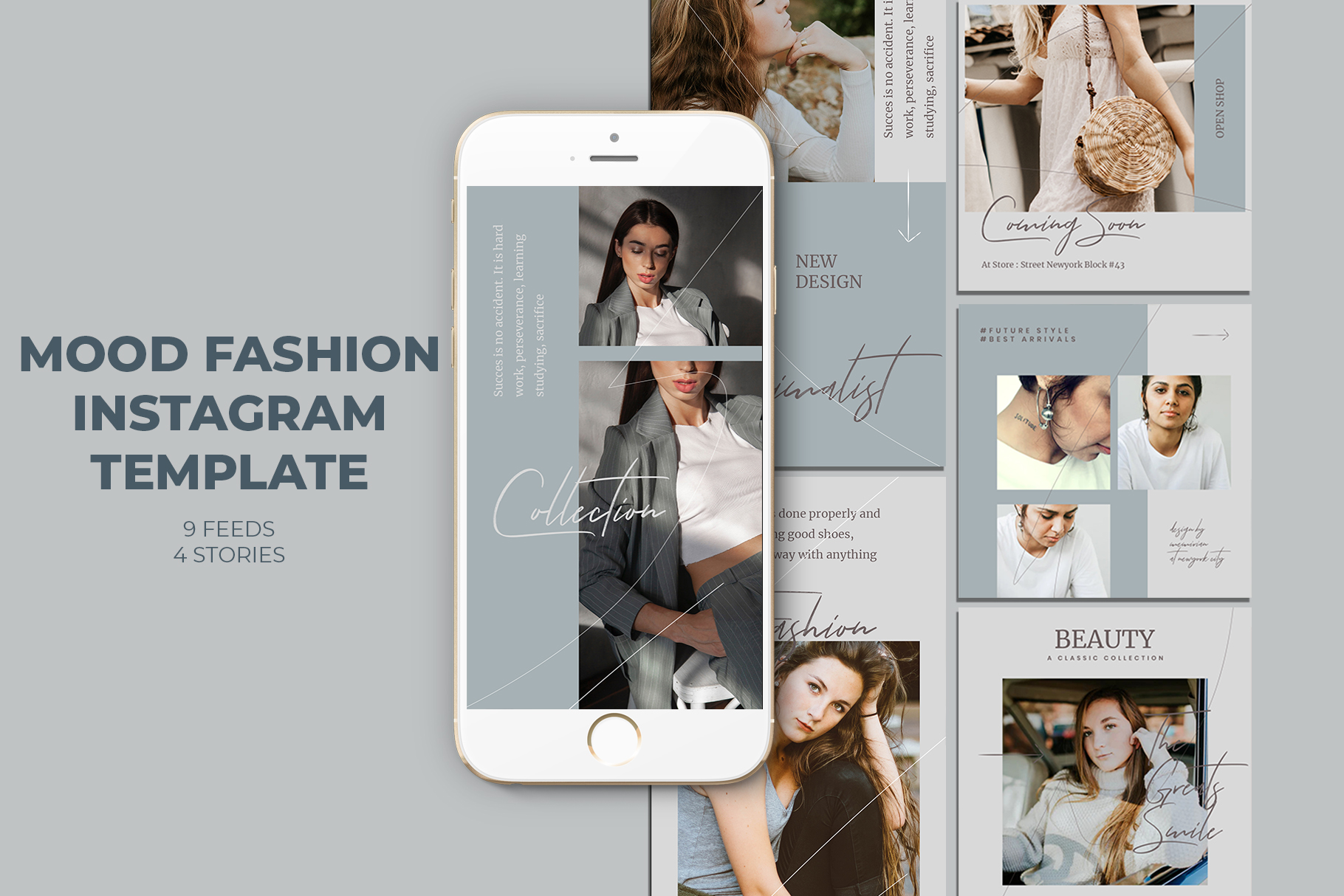 Download Free Mood Fashion Instagram Templates Graphic By Qohhaarqhaz for Cricut Explore, Silhouette and other cutting machines.