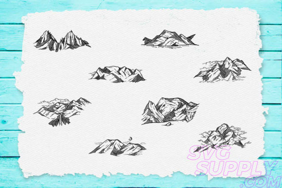 Print on Demand: Mountain Bundle Graphic Print Templates By svgsupply - Image 1