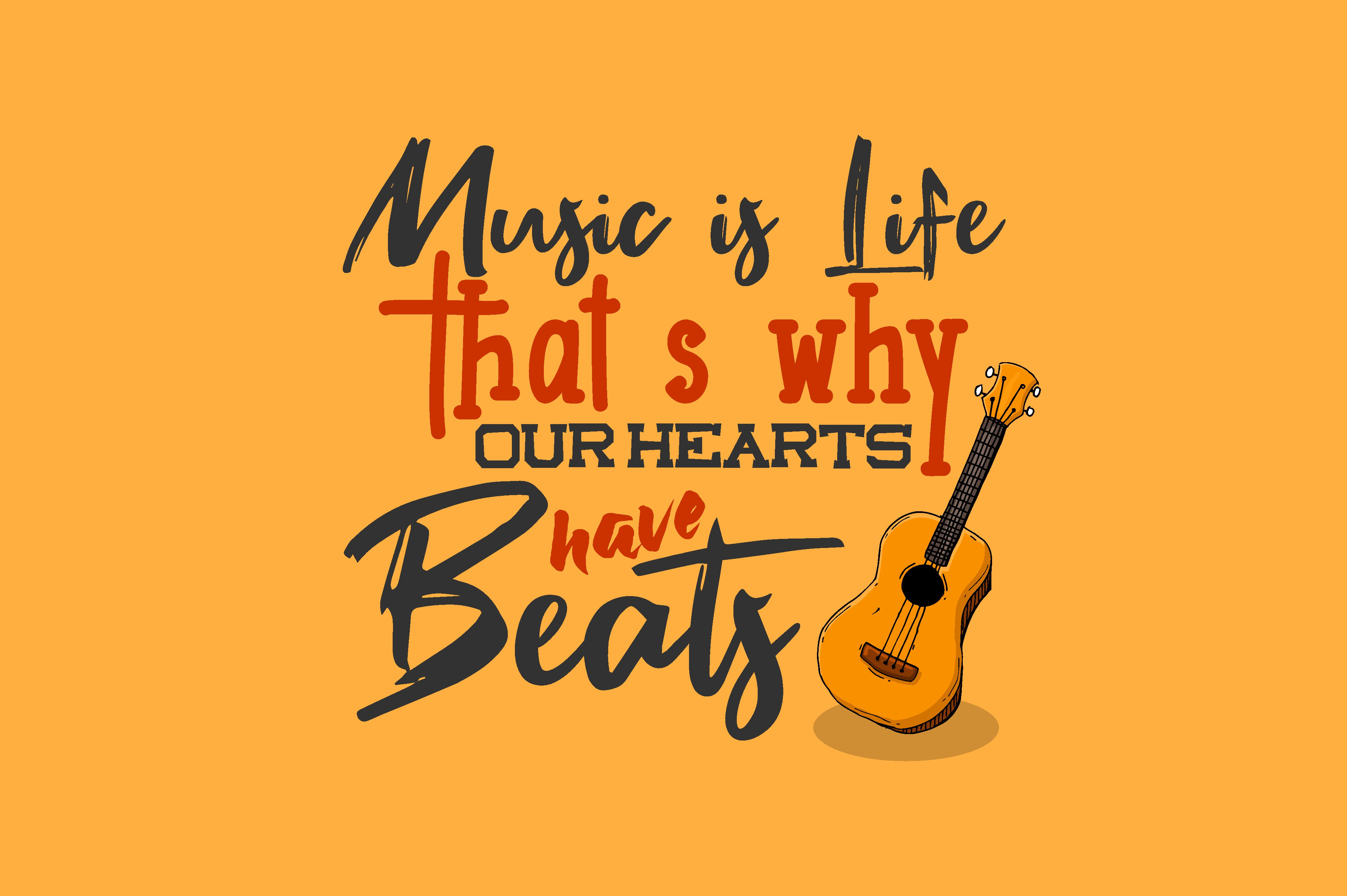 Download Free Music Is Life Graphic By Chairul Ma Arif Creative Fabrica for Cricut Explore, Silhouette and other cutting machines.
