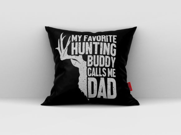 Download Free My Favorite Hunting Buddy Calls Me Dad Graphic By Aartstudioexpo for Cricut Explore, Silhouette and other cutting machines.