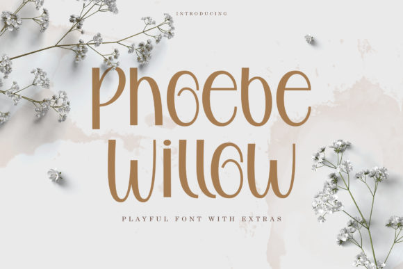 Print on Demand: Phoebe Willow Script & Handwritten Font By Rifki (7ntypes)
