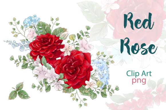 Print on Demand: Red Rose Graphic Illustrations By nicjulia