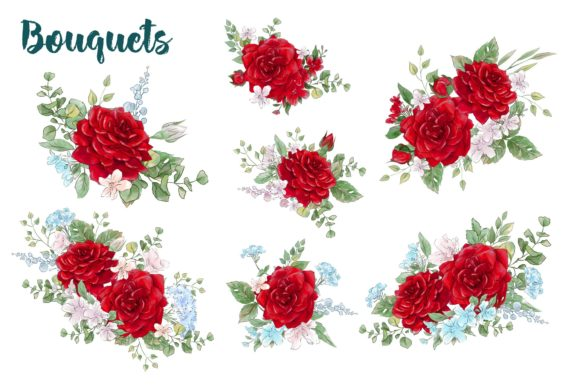 Print on Demand: Red Rose Graphic Illustrations By nicjulia - Image 2