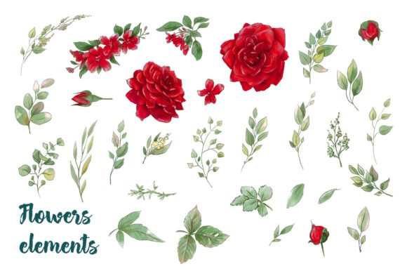 Print on Demand: Red Rose Graphic Illustrations By nicjulia - Image 3