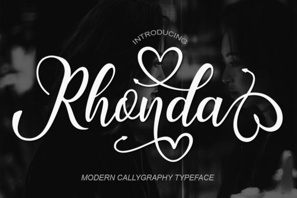 Print on Demand: Rhonda Script & Handwritten Font By bbakey