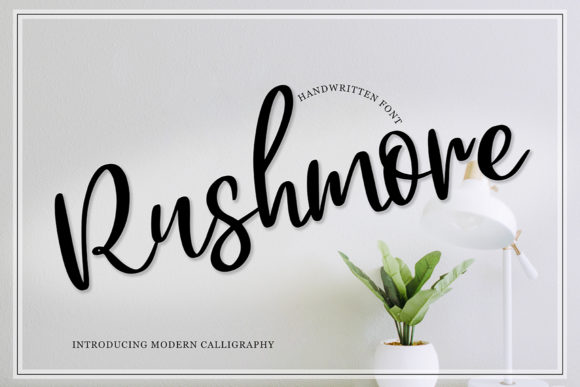 Print on Demand: Rushmore Script & Handwritten Font By Masha Artifex