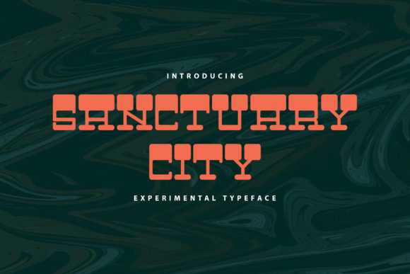Print on Demand: Sanctuary City Display Font By Rifki (7ntypes)