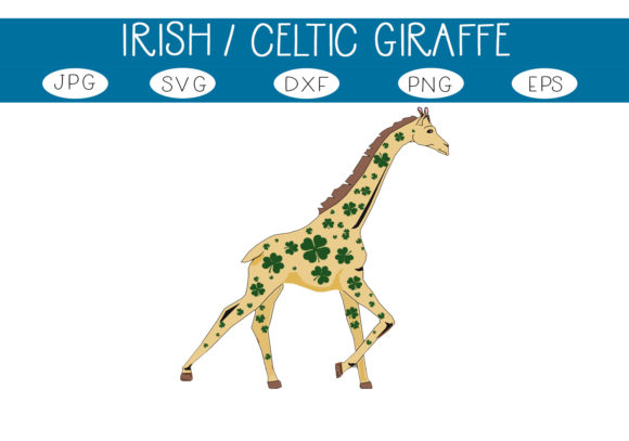Shamrock Celtic Giraffe Graphic By Capeairforce Creative Fabrica
