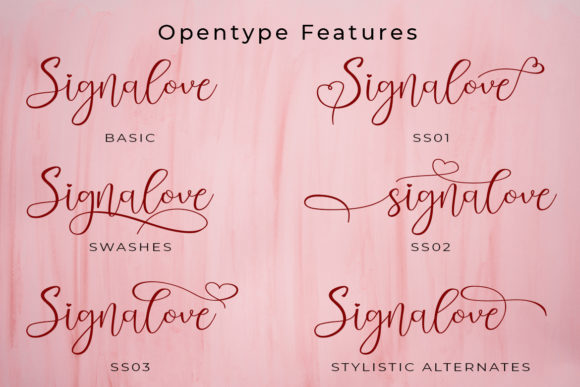 Print on Demand: Signalove Script & Handwritten Font By Madatype Studio - Image 10