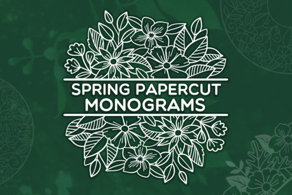 Download Free Spring Papercut Monograms Graphic By Tatiana Cociorva Creative Fabrica SVG Cut Files