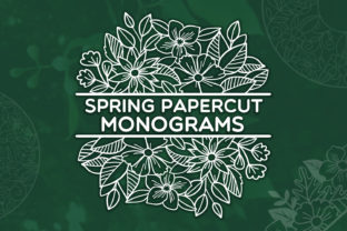 Print on Demand: Spring Papercut Monograms Graphic Crafts By tatiana.cociorva