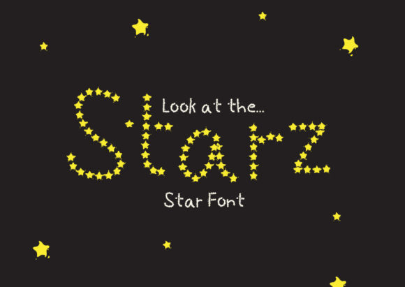 Print on Demand: Starz Decorative Font By GraphicsBam Fonts