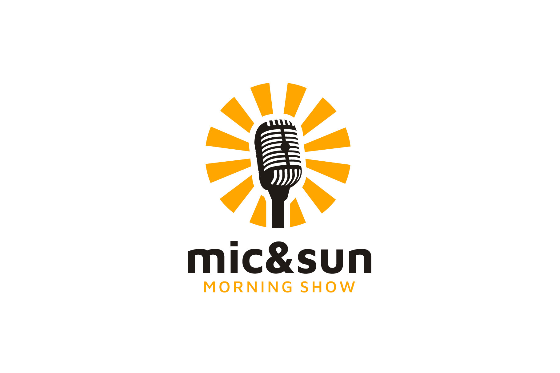 Download Free Sun Mic Microphone Morning Podcast Logo Graphic By Enola99d SVG Cut Files