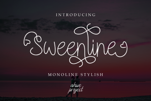 Print on Demand: Sweenline Script & Handwritten Font By ahweproject