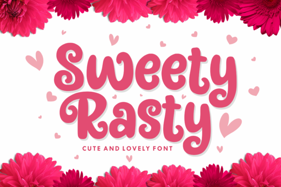 Print on Demand: Sweety Rasty Display Font By Holydie Studio - Image 1