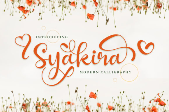 Print on Demand: Syakira Script & Handwritten Font By EmbunStudio