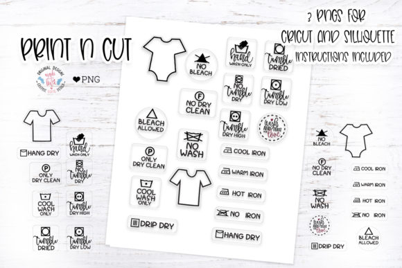 Download Free Baby T Shirt Washing Care Instructions Graphic By for Cricut Explore, Silhouette and other cutting machines.