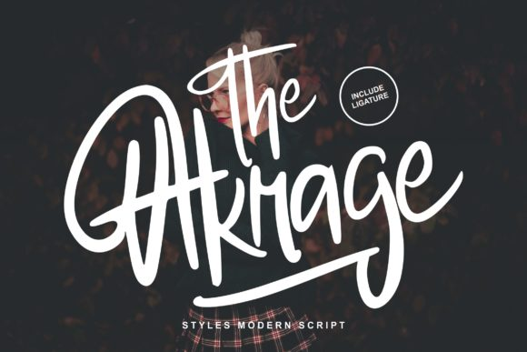 Print on Demand: The Akrage Script & Handwritten Font By Vunira